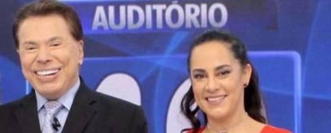 Silvia Abravanel e Silvio Santos, neste domingo, 5 de novembro de 2017 Foto: Divulgação / SBT
