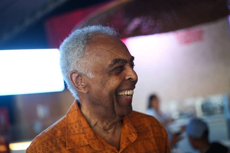 Gilberto Gil no Camarote Expresso 2222, na abertura do Carnaval de Salvador