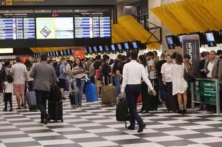 Movimentação no Aeroporto de Congonhas.