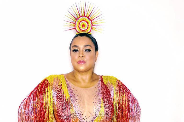 Preta Gil usa roupa inspirada em Oxum, Ivete Sangalo e Beyoncé para puxar trio em Salvador
