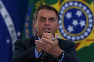 Bolsonaro durante lançamento do programa Crédito Imobiliário