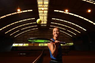 A tenista Luisa Stefani