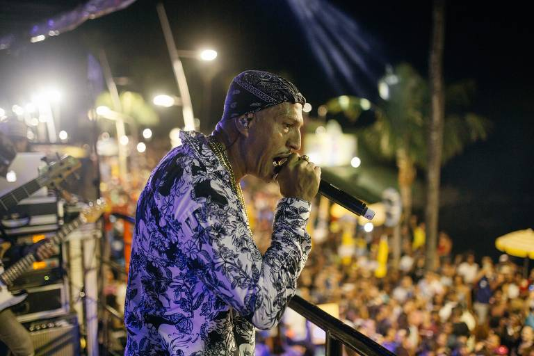Mano Brown no trio Afropunk no Carnaval de Salvador