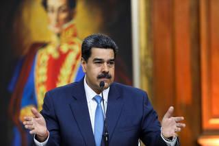 Venezuela's President Nicolas Maduro speaks during a news conference in Caracas