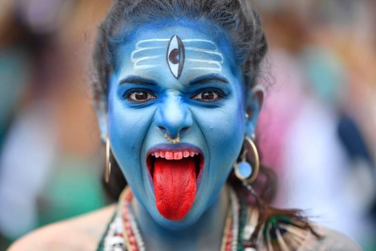 Bloco Pena de Pavão de Krishna celebra divindades indianas no Carnaval de Belo Horizonte