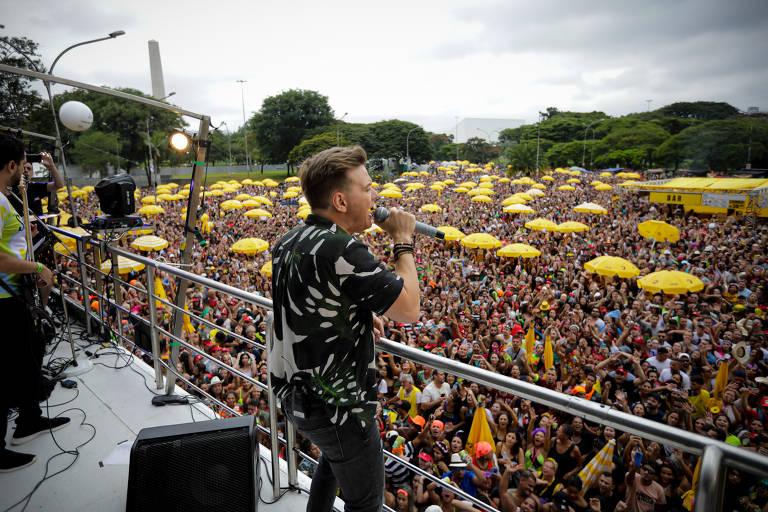 Apresentação do bloco Bem Sertanejo, do Michel Teló, no Ibirapuera, em São Paulo