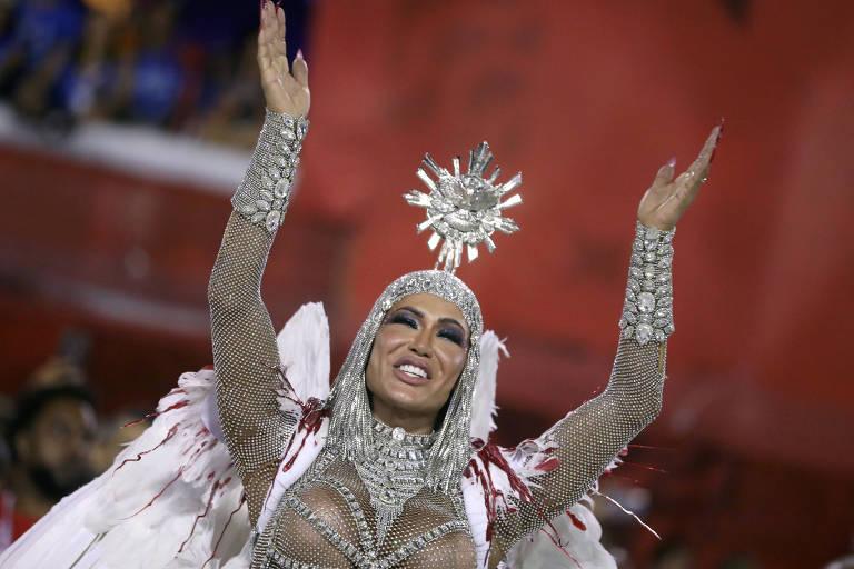 Gracyanne Barbosa como rainha de bateria da escola  União da Ilha