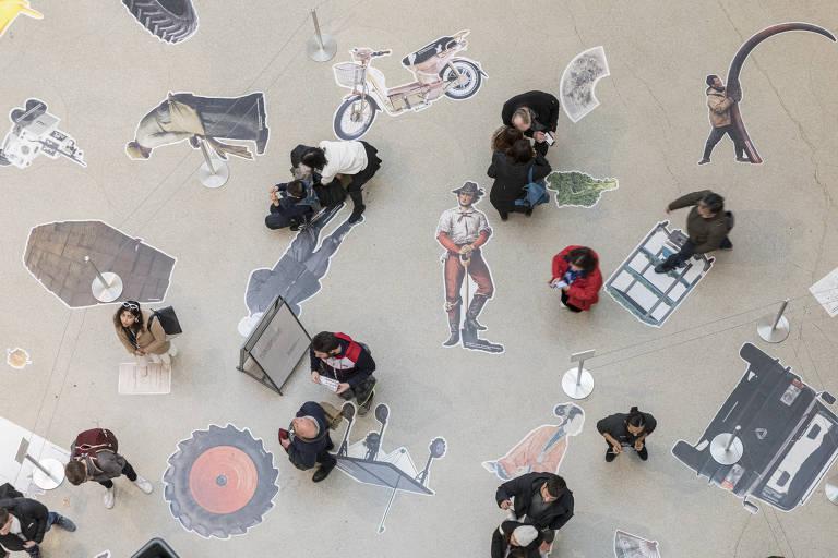 """Detalhe do hall do Museu Guggenheim, em Nova York, durante exposição """"Countryside, the Future"""", do arquiteto holandês Rem Koolhaas"""