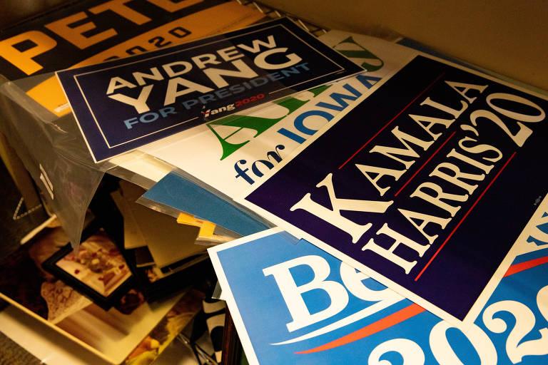 Material que sobra das campanhas presidenciais americanas