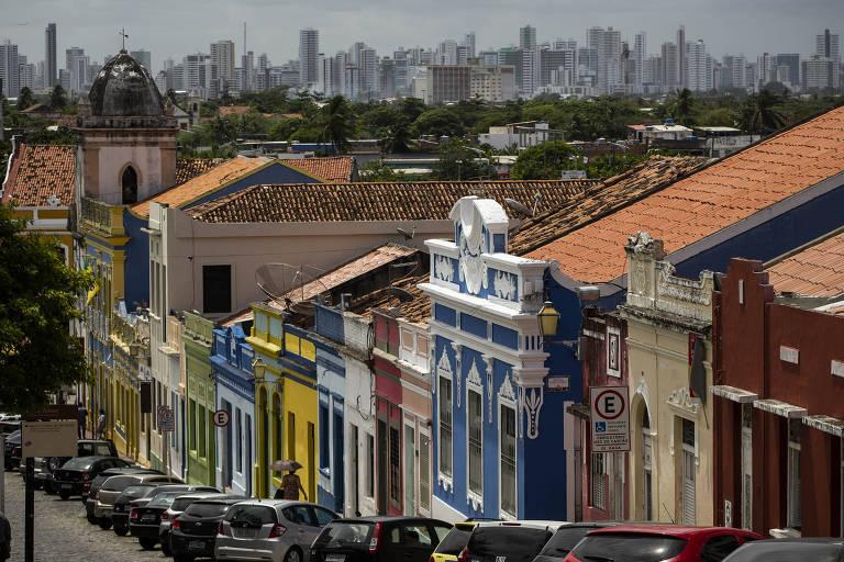 Fachadas de casas do centro histórico da cidade de Olinda