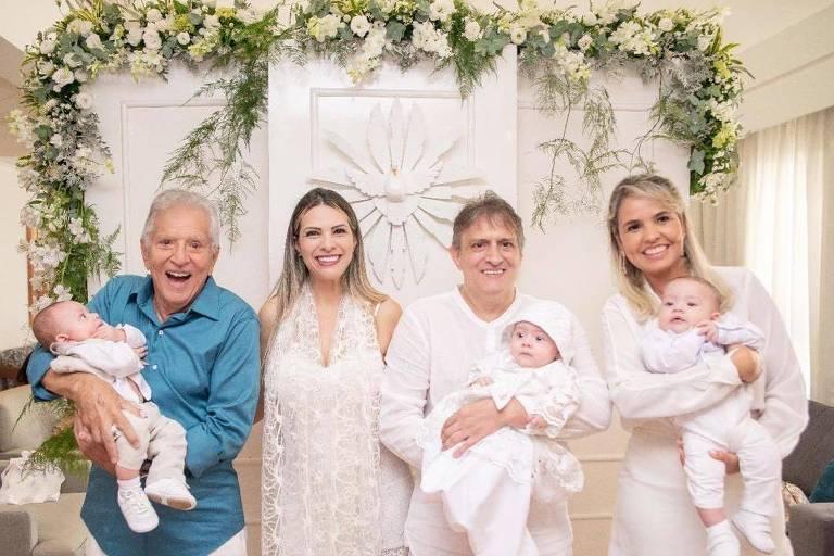 Carlos Alberto de Nóbrega e os netos