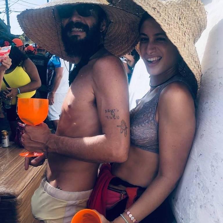 Caio Blat e Luisa Arraes no Carnaval 2020