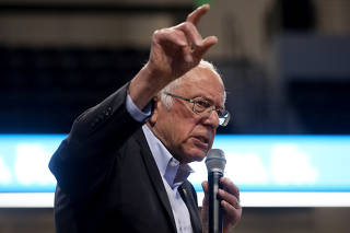 Democratic 2020 U.S. presidential candidate Sanders rallies with supporters in Spartanburg, South Carolina