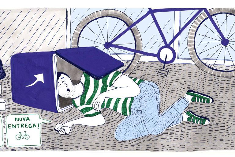 No Brasil, dá-se por feliz o trabalhador que pedala 30 km e 12 horas por dia