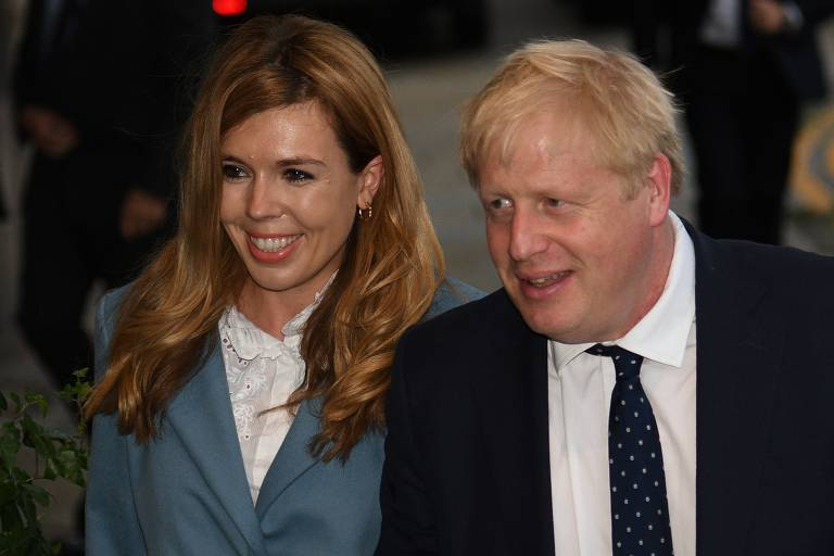 Boris Johnson e sua noiva, Carrie Symonds
