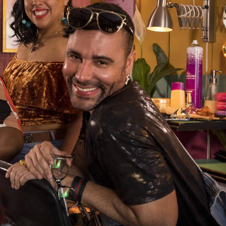 Cacau Protásio, Evelyn Castro e Rodrigo Sant'Anna em cena de 'A Sogra Perfeita'
