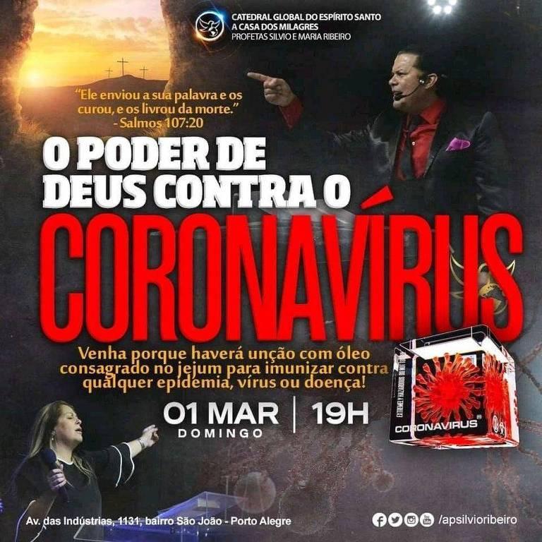 Polícia investiga igreja que anunciou imunização contra coronavírus