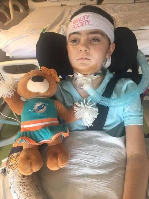 Inicialmente, os médicos não sabiam se Keira iria sobreviver, após uma operação de emergência