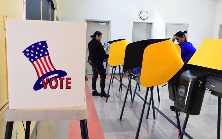 Nesta Super Terça, 14 estados nos EUA têm eleições; veja fotos de hoje