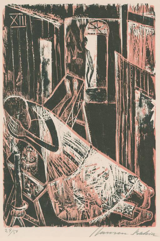 Xilogravura do artista Hansen Bahia