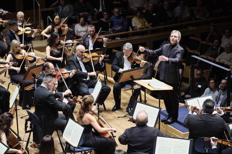 São Paulo (SP), 05/03/2020 - Abertura da temporada da OSESP - A Orquestra Sinfônica do Estado de São Paulo (OSESP) apresentou o maestro suíço Thierry Fischer como regente titular na abertura da temporada 2020, em concerto na sala São Paulo