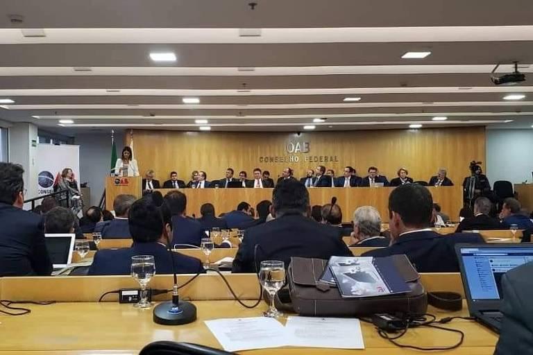 Reunião do Conselho Federal da OAB em janeiro de 2019