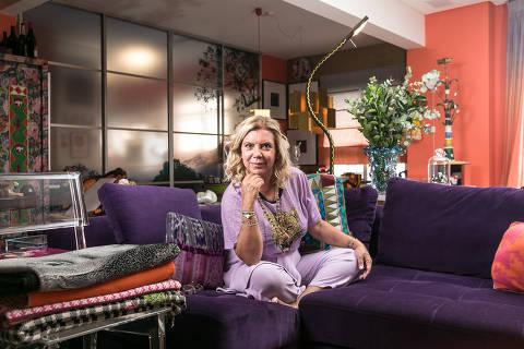 BR - SAO PAULO - 02.03.2020 - ESPECIAL DOENCAS RARAS - Retrato da apresentadora Astrid Fontenelle, em sua casa. FOTO: KEINY ANDRADE/Folhapress