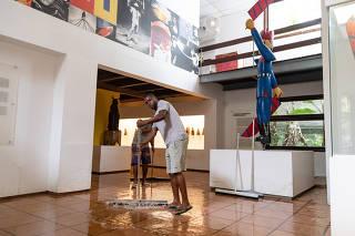 RIO DE JANEIRO, RJ, 04.03.2020: Museu Casa do Pontal, no Rio, que esta alagado,e a nova sede na Barra em construçao. O Museu Casa do Pontal sofreu mais uma inundacao devido as fortes chuvas no Rio de Janeiro. Recreio, Rio de Janeiro (Foto: Zo Guimaraes/F