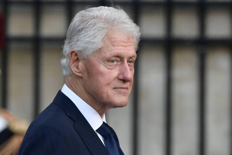 O ex-presidente Bill Clinton em um evento em Paris