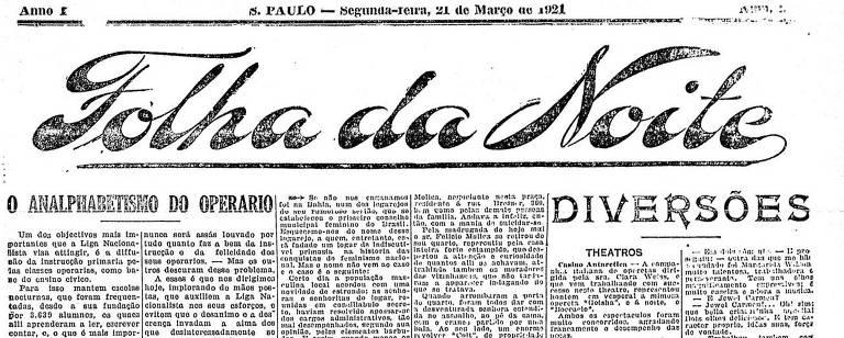 Reprodução da página do jornal