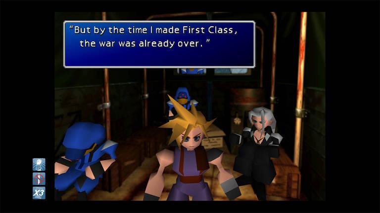 Veja cenas do game 'Final Fantasy 7', de 1997