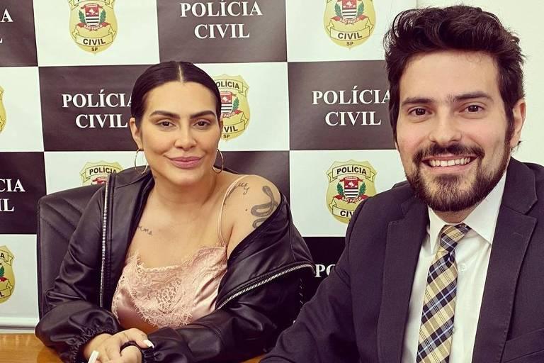 Cleo vai à delegacia para acompanhar investigação contra invasores de seu Instagram
