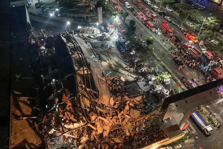 Hotel Xinjia, que desabou na China