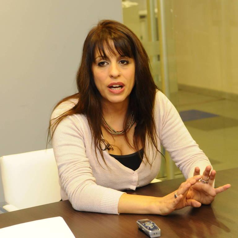 A ex-deputada Victoria Donda, durante uma entrevista