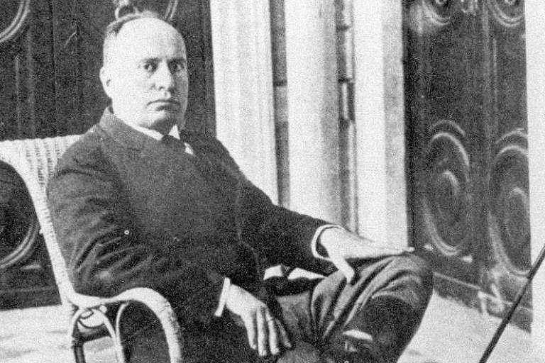 O ditador italiano Benito Mussolini