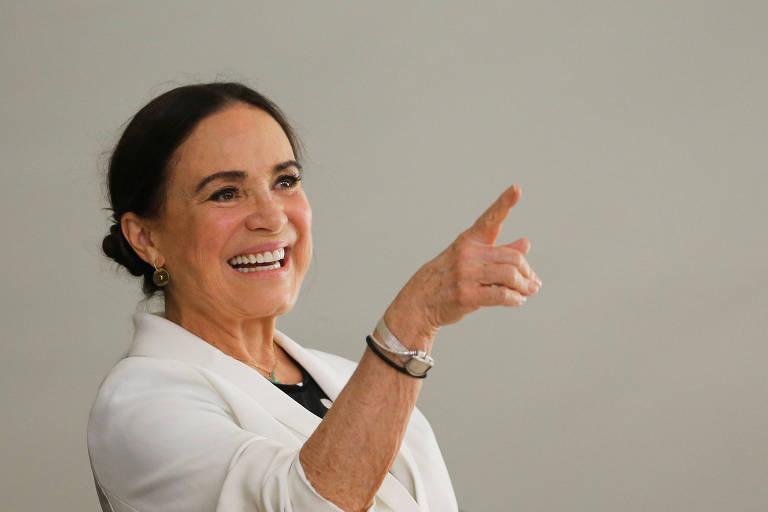 Regina Duarte em Brasilia, em 4 de março 2020