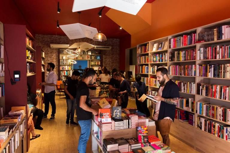 Inauguração da Livraria da Tarde, em Pinheiros, zona oeste de São Paulo