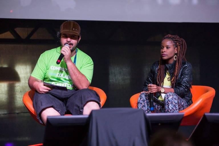DJ Bola, fundador da A Banca, durante o Festival SGB