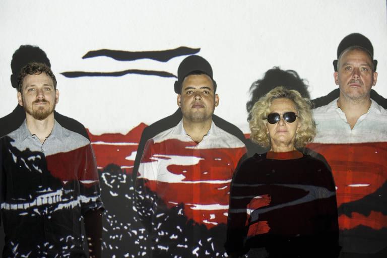 Espetáculo São Paulo, com Regina Braga, Vitor Casagrande (cavaquinho e bandolim), Alfredo Castro (percussão) e Guilherme Girardi (violões)