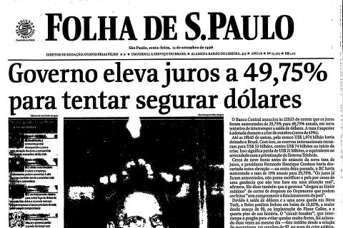 Reprodução capa Folha 11 09 1998