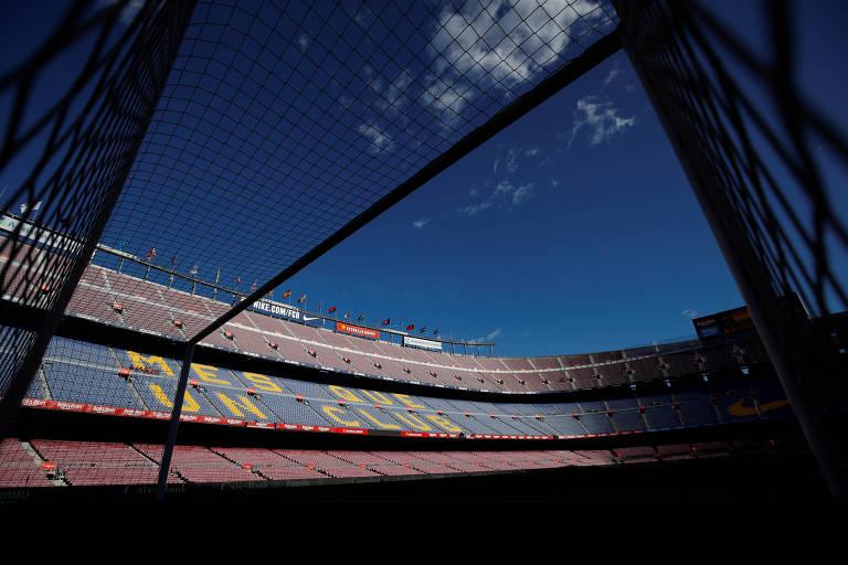 Camp Nou estará vazio para o duelo entre Barcelona e Napoli, pelas oitavas de final da Champions