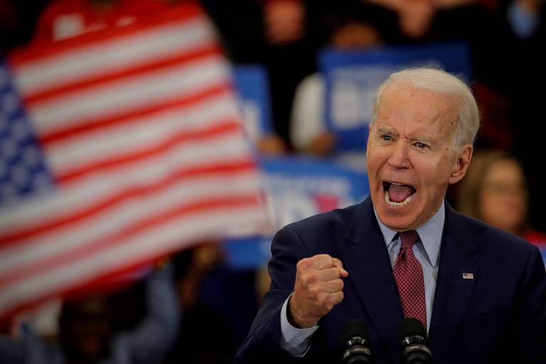 O pré-candidato democrata Joe Biden durante discurso em Detroit, no estado de Michigan,