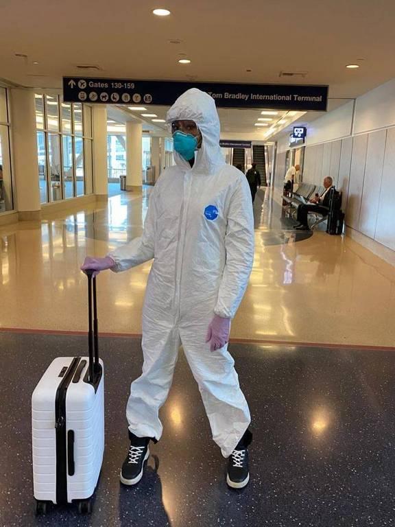 Famosos se protegem do novo coronavírus