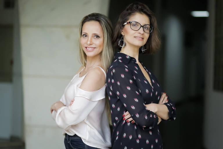 As arquitetas Flávia Miranda, 50, e Janaína Massote, 42, do escritório ReCS Brasil