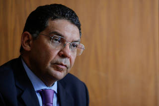 Brazil's Secretary of the Treasury Mansueto Almeida attends an interview with Reuters in Brasilia