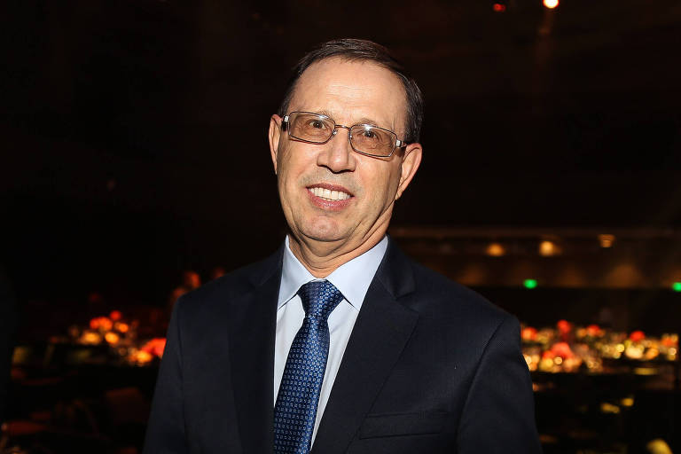 O empresário Carlos Wizard, durante entrega de prêmio, em SP