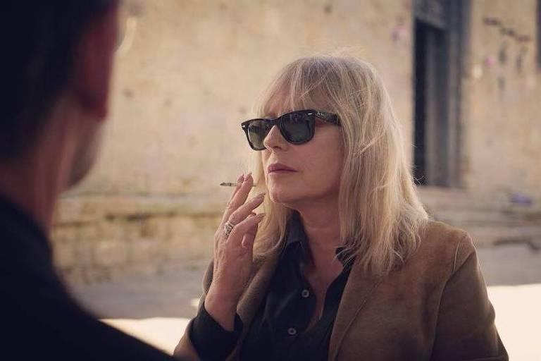 A atriz Krystyna Janda em cena de 'Doce Entardecer na Toscana'