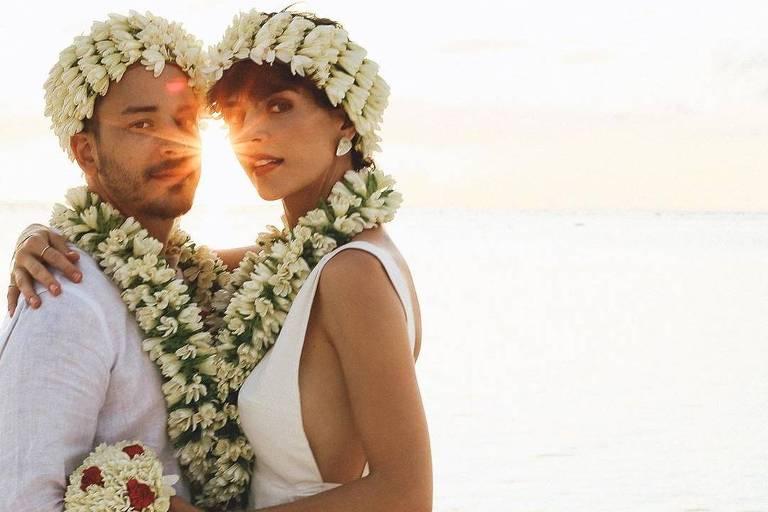 Junior Lima faz novo casamento na Polinésia Francesa
