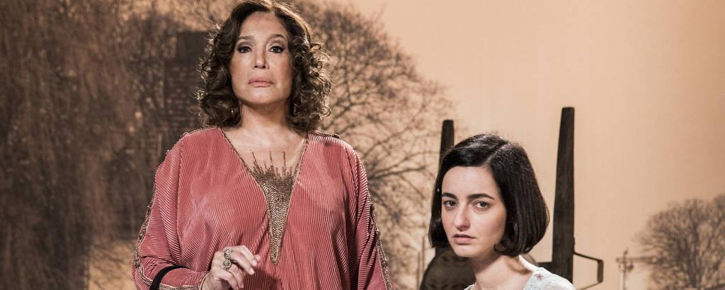 Emília (Susana Vieira) e Justina (Julia Stockler)