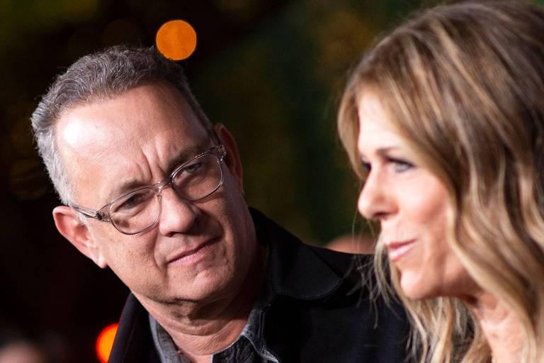 Tom Hanks e a mulher, Rita Wilson
